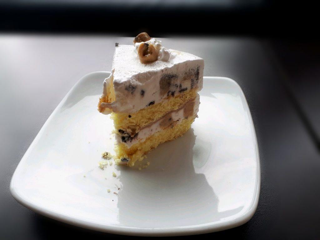 A Cookie Dough Delirium Cake in Coldstone creamery