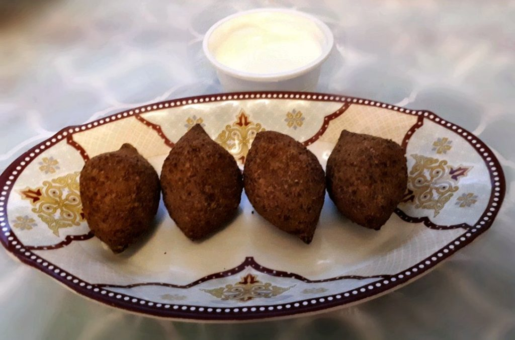 A Middle eastern food called Kibbah