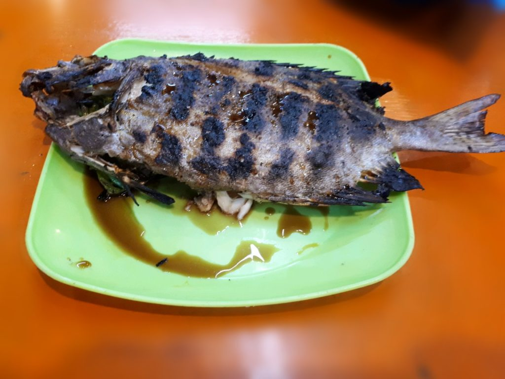 A fresh grilled Fish in Larsian Cebu