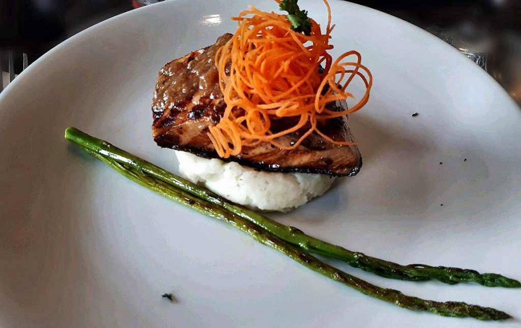 A Grilled Salmon in Sweet Soy in the Suite room in Ayala Cebu