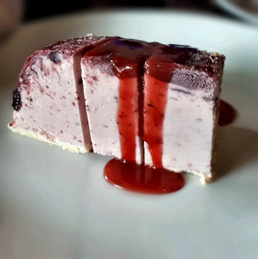 A delicious dessert called Berry Ice cream cake