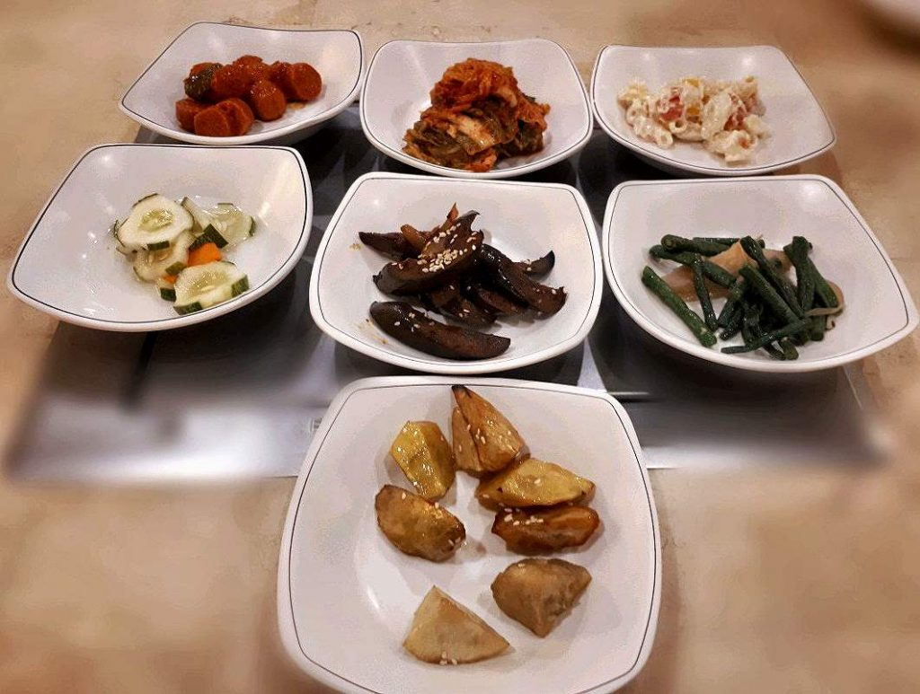 The Korean Side dishes commonly found in all korean restaurant in Chosun Galbi