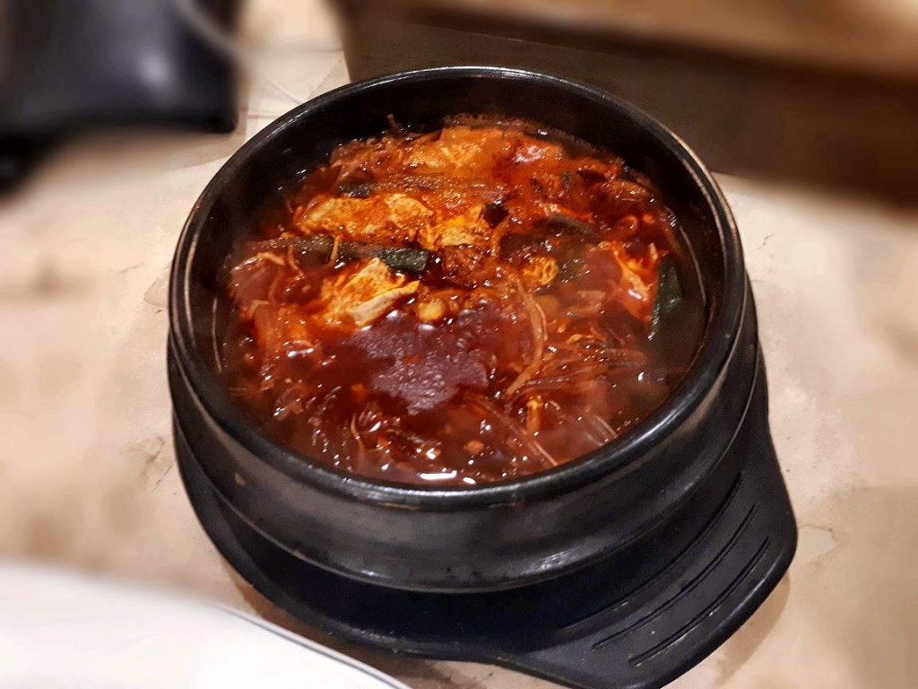 A spicy beef soup called Yukgaejang found in Chosun Galbi in Cebu City