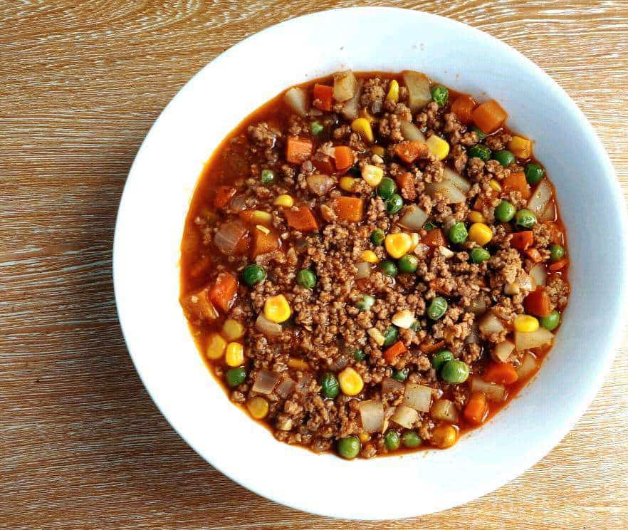 A ground beef recipe called Beef Picadillo