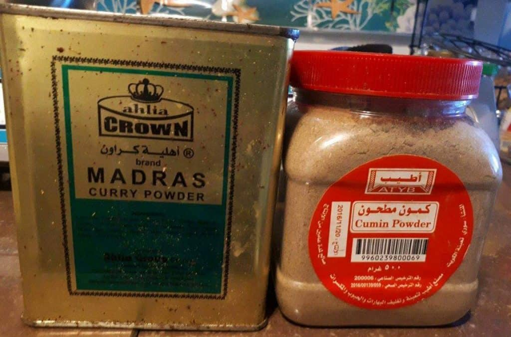 Cumin and Curry Spices for Beef Picadillo