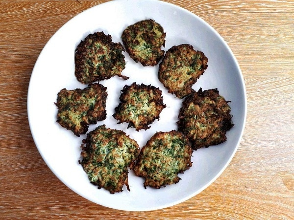 A recipe of a cauliflower fritters