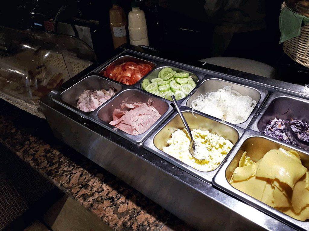 Salad Station in Cafe Bai in Bai Hotel in Mandaue City