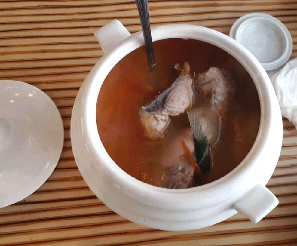 Tinolang isda in Laguna Garden Cafe