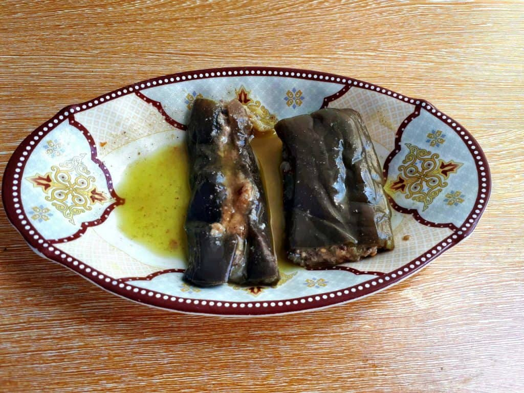 Makdous (Pickled Eggplant)