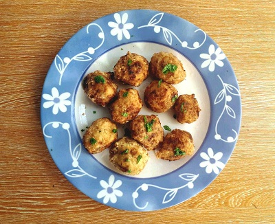 Chicken Croquettes garnished with parsley
