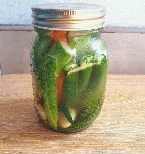 Easy Refrigerator Dill Pickles Recipe