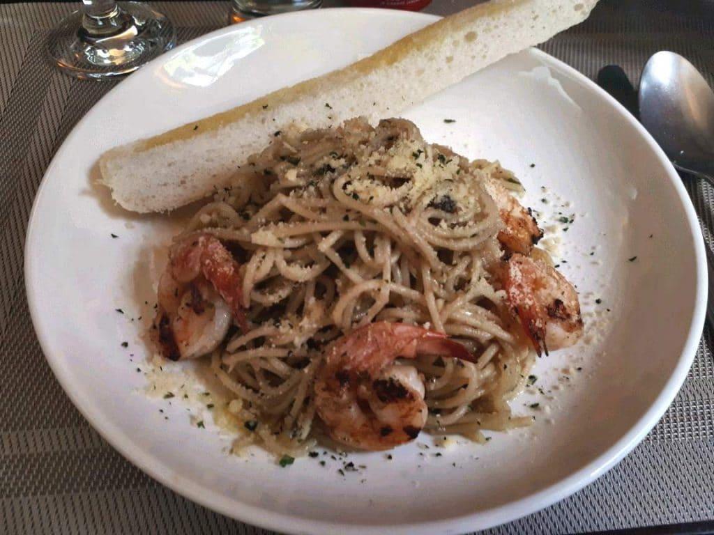 Shrimp & Spaghetti Aglio Olio