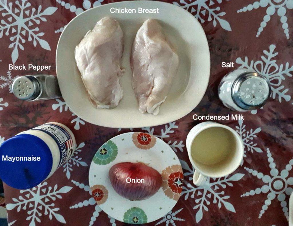 Ingredients of Chicken Sandwich Spread Recipe