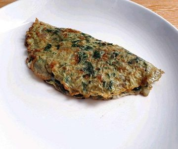 spinach omelette recipe