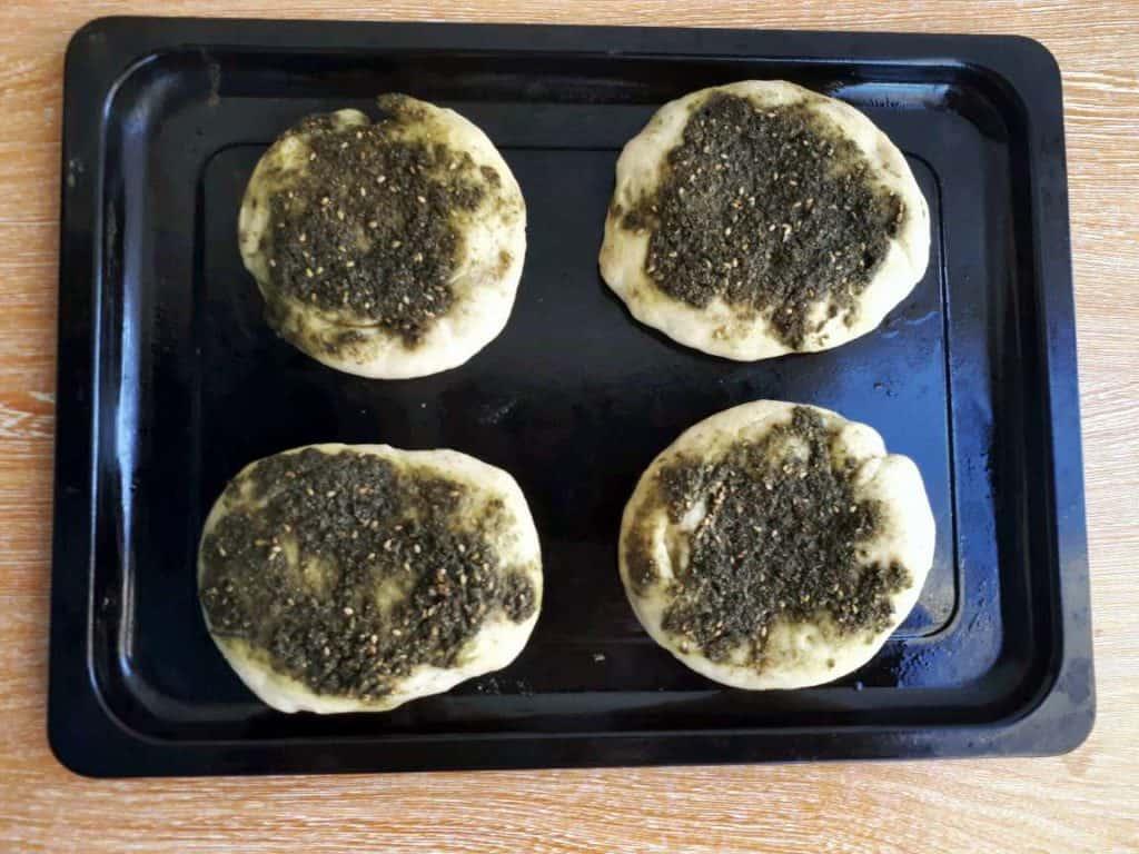 Zaatar Bread Recipe (Manakish)