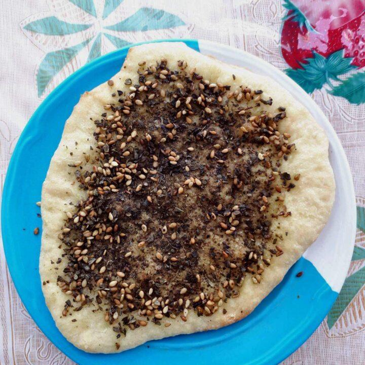 Lebanese Zaatar Bread