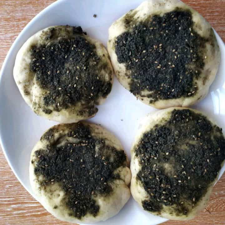 Zaatar Bread Recipe (Manakish)