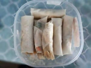 Assembling the Vegetable Lumpia