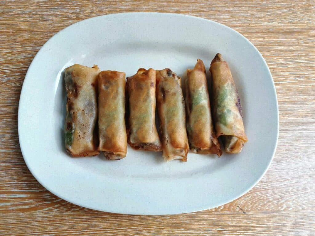 Vegetable Lumpia in a plate