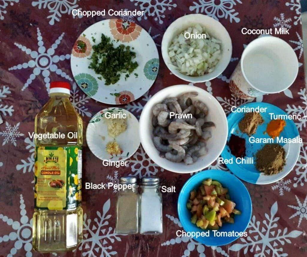 Ingredients of Prawn Masala Recipe