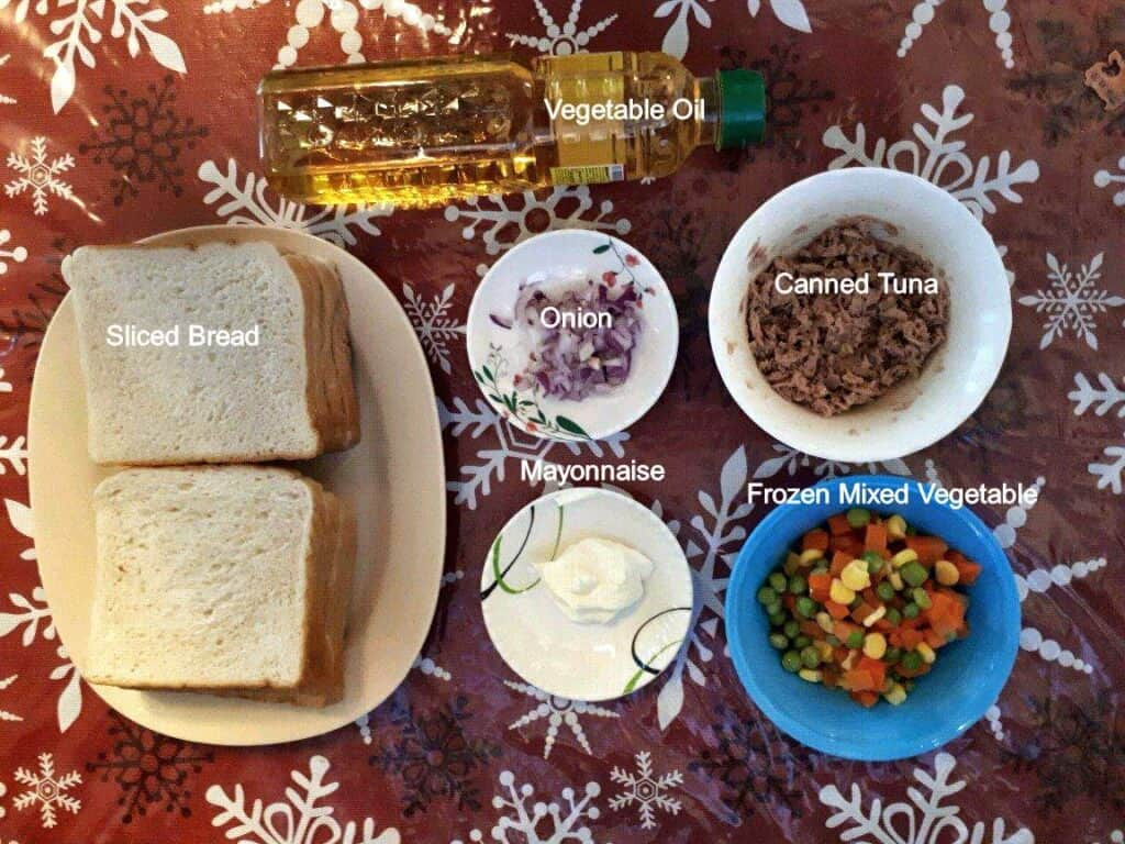 Ingredients of my version of Jollibee Tuna Pie Recipe