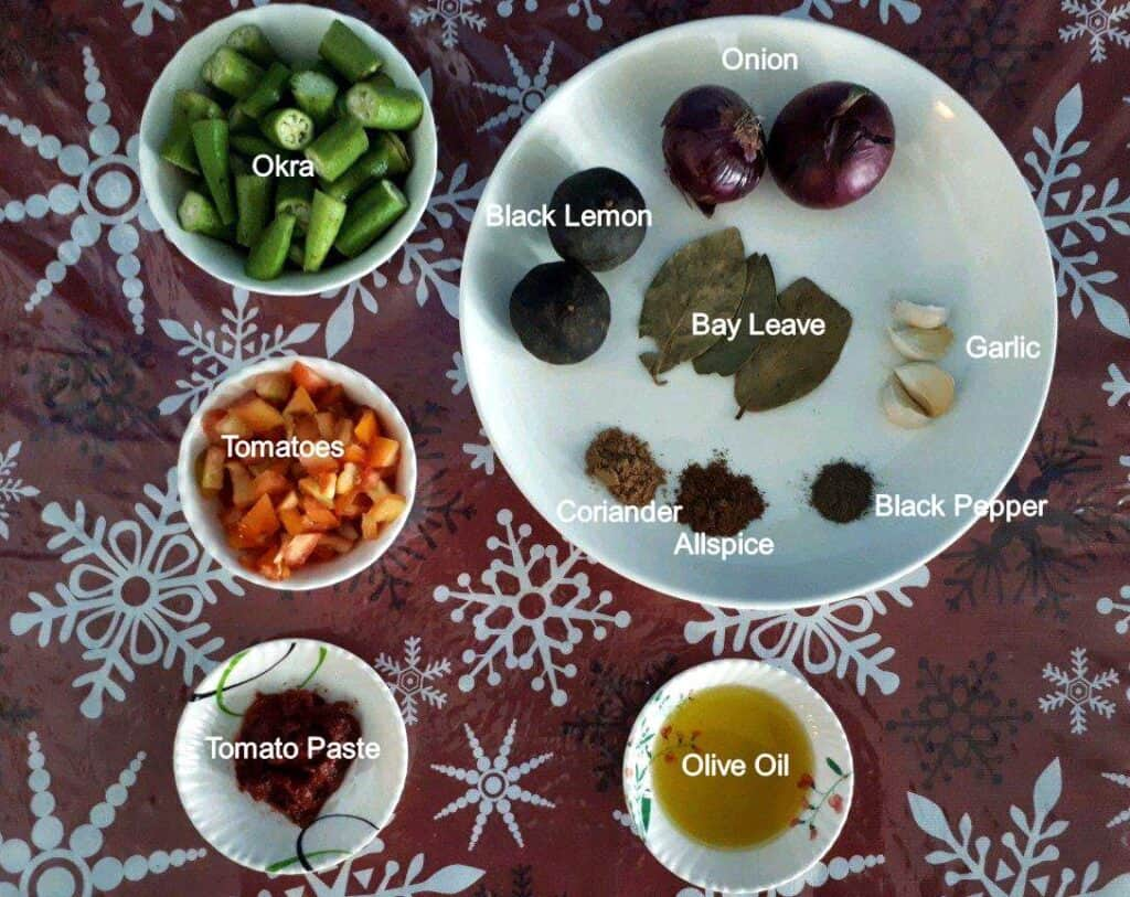 Ingredients of Beef Bamia Recipe