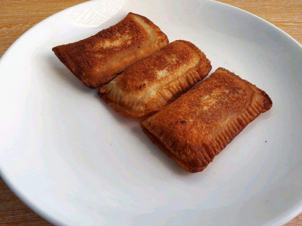 My version of Jollibee Tuna Pie Recipe in a plate