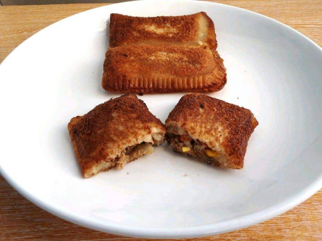 Jollibee Tuna Pie Recipe in a plate
