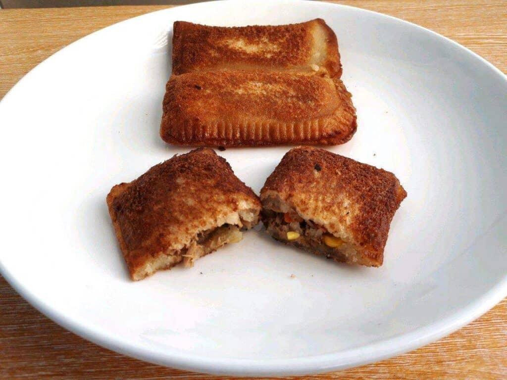 Jollibee Tuna Pie Recipe in a plate