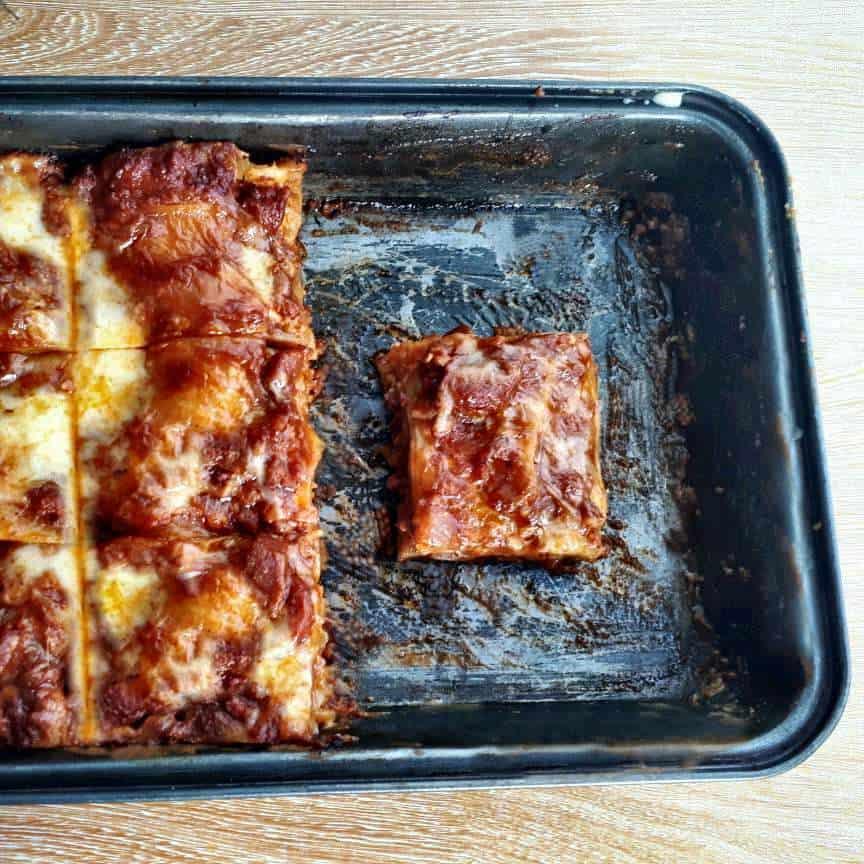 Pieces of Pinoy Filipino Lasagna