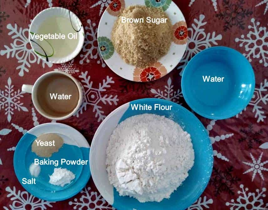 Ingredients of Siopao Dough