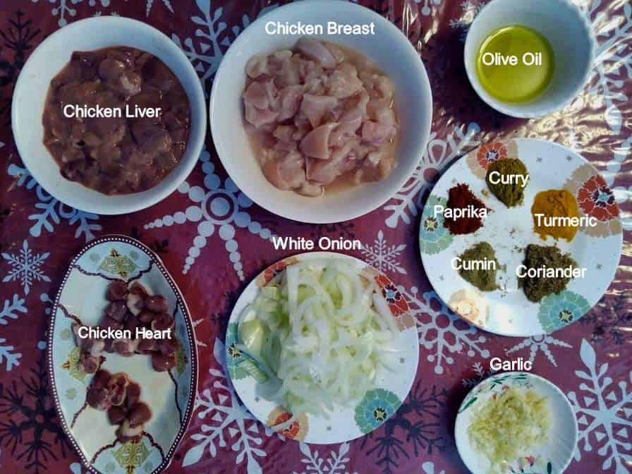Ingredients of Jerusalem Mixed Grill Recipe