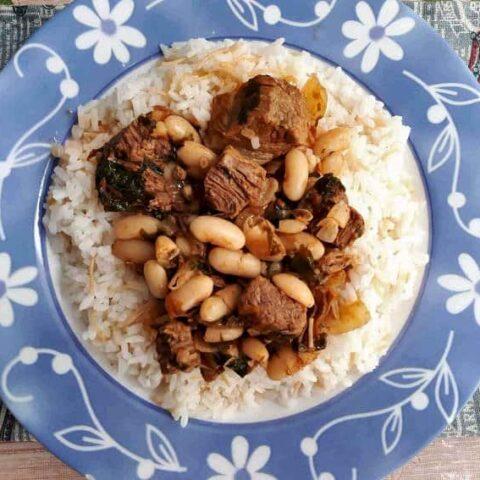Fasolia Recipe (Arabic White Bean Stew)