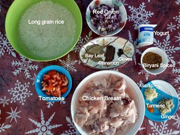 Recipe ingredient of Arabic Biryani