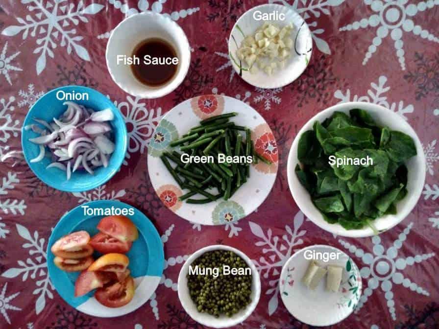 Recipe ingredient of Ginisang Monggo
